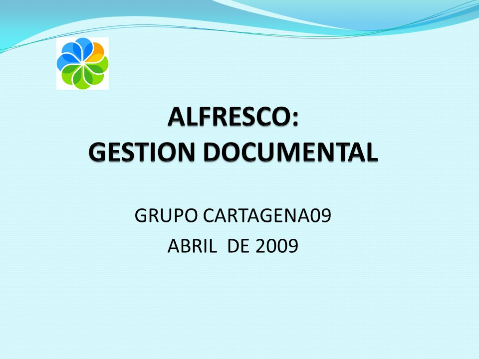GRUPO CARTAGENA09 ABRIL DE 2009