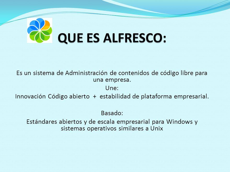 Es un sistema de Administración de contenidos de código libre para una empresa.