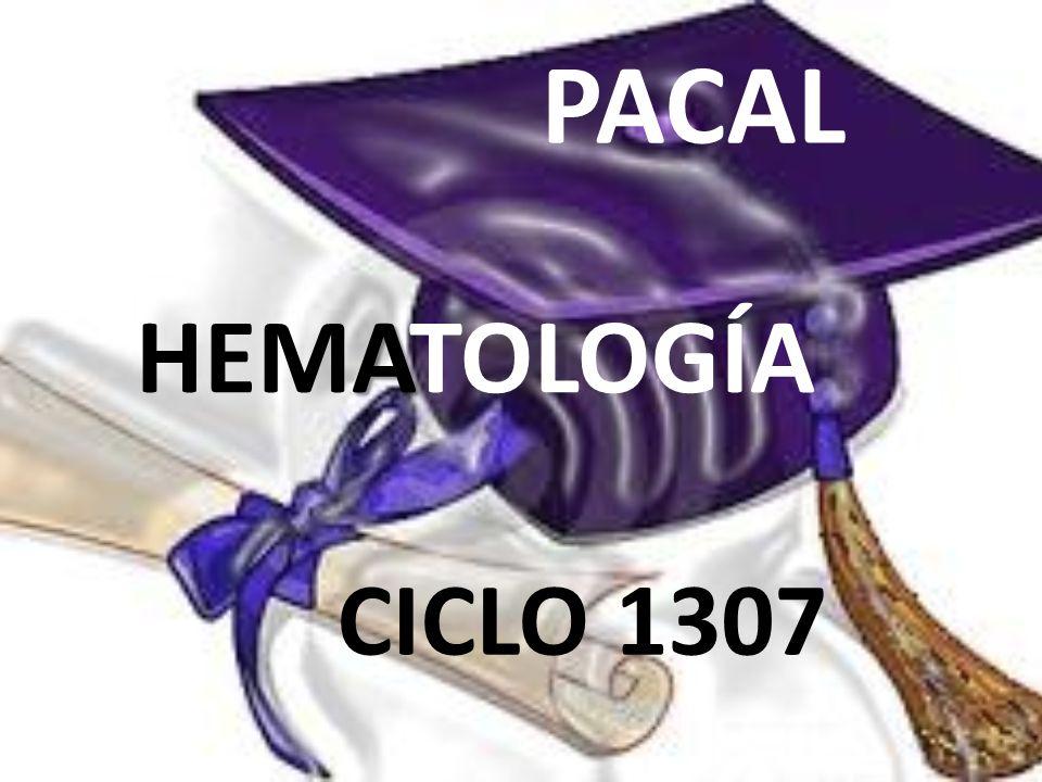 PACAL A HEMATOLOGÍA CICLO 1307