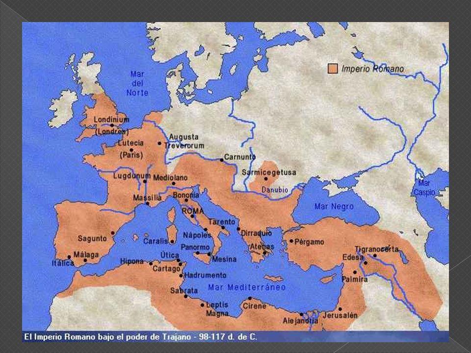 Roma, fundada en el año 753 A.C.Al principio una comunidad pequeñas aldeas.