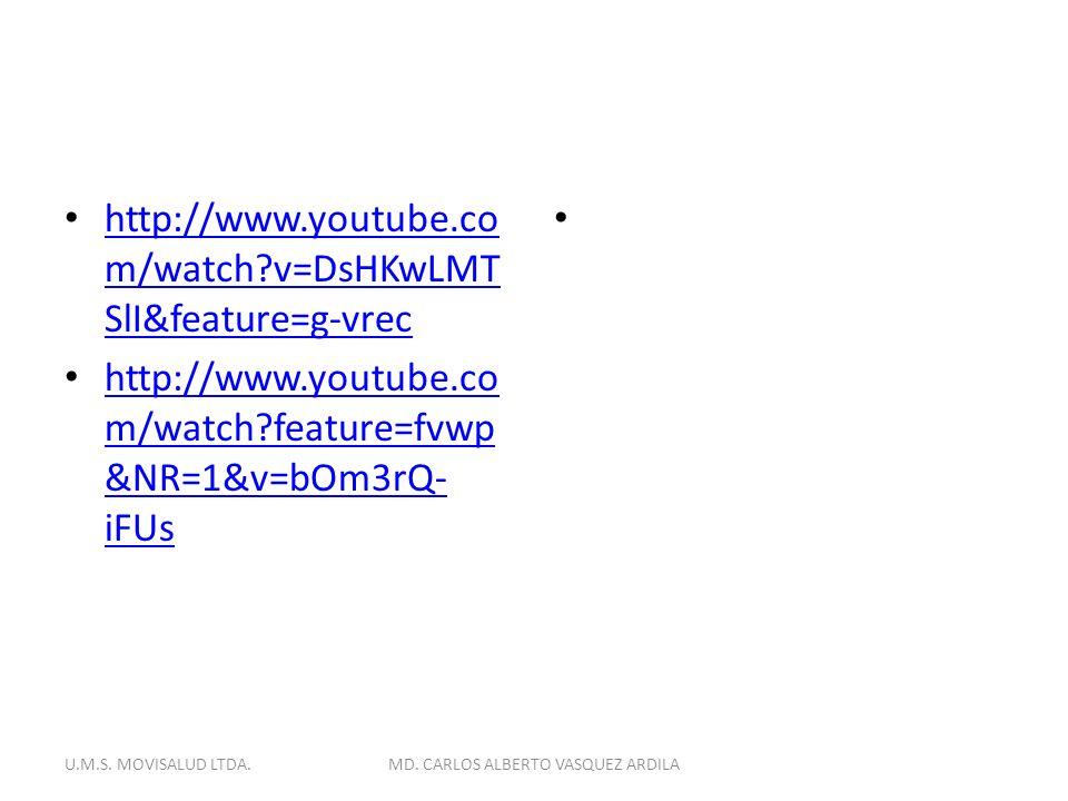 http://www.youtube.co m/watch?v=DsHKwLMT SlI&feature=g-vrec http://www.youtube.co m/watch?v=DsHKwLMT SlI&feature=g-vrec http://www.youtube.co m/watch?