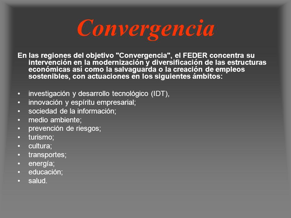 Convergencia En las regiones del objetivo