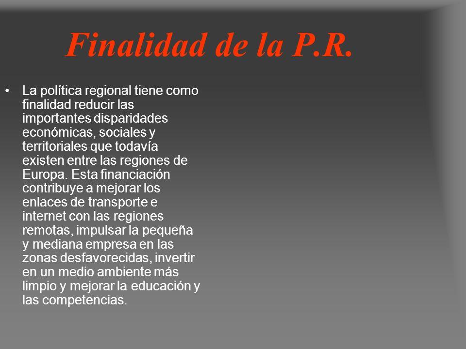 Objetivos de la P.R.