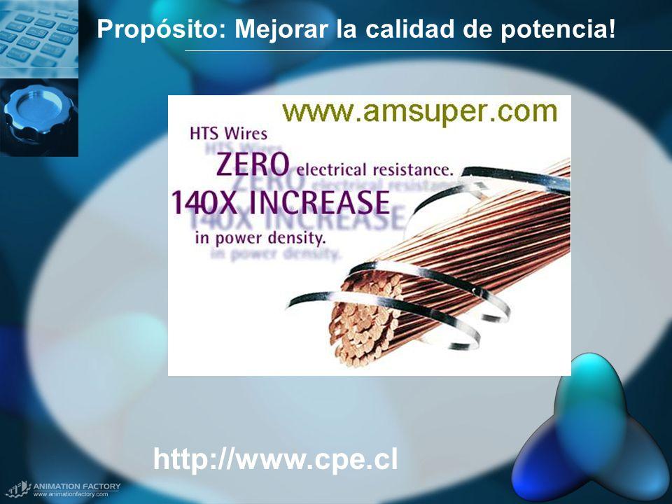 Propósito: Mejorar la calidad de potencia! http://www.cpe.cl