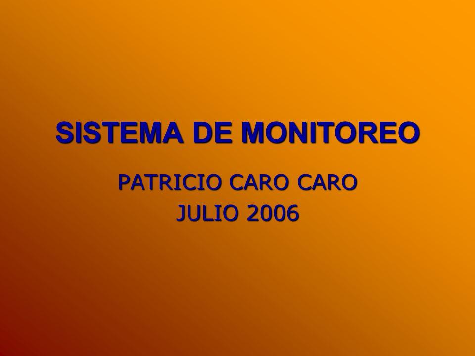 SISTEMA DE MONITOREO PATRICIO CARO CARO JULIO 2006