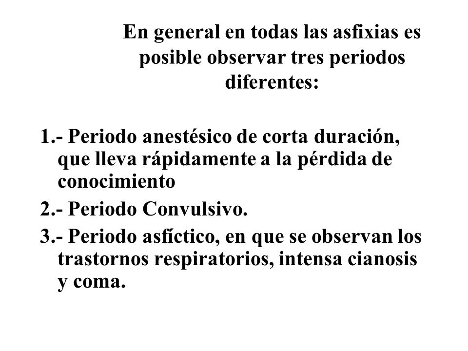 Fenómenos comunes a las asfixias 1) PETEQUIAS.