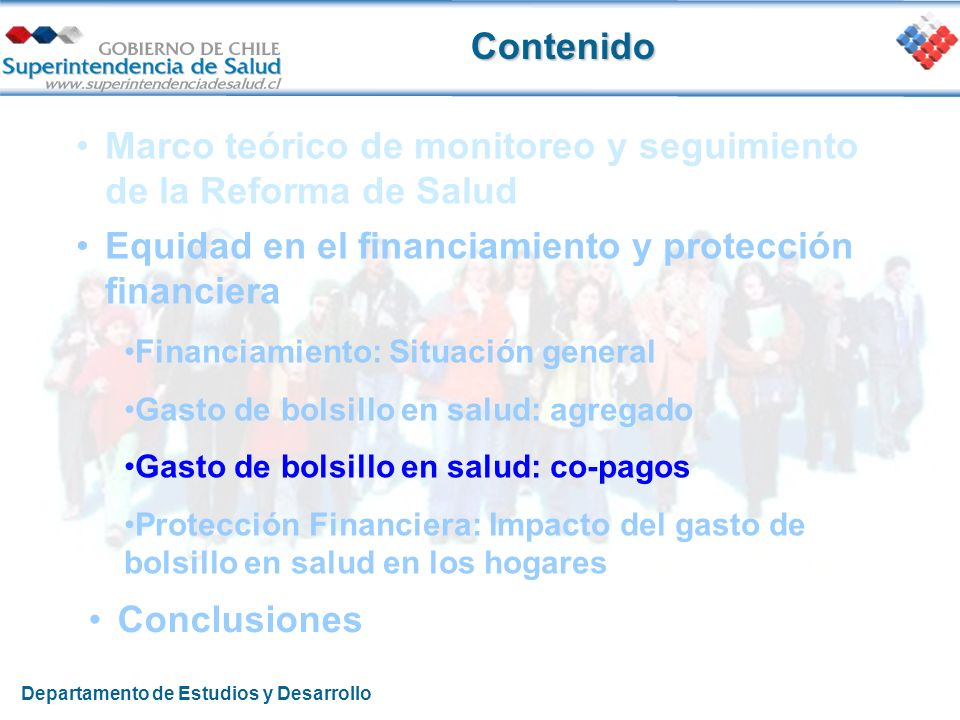 Marco teórico de monitoreo y seguimiento de la Reforma de Salud Equidad en el financiamiento y protección financiera Financiamiento: Situación general