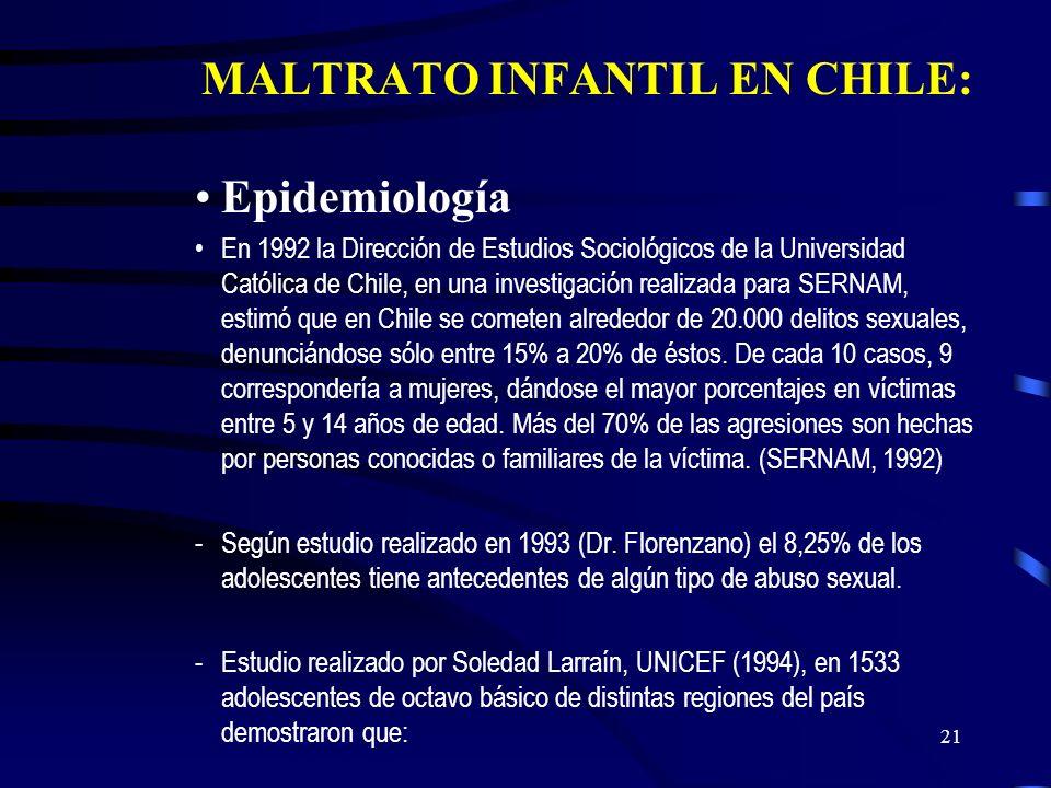 20 A largo plazo: -Trastornos emocionales (niño(a)s inseguro(a)s, culposo(a)s, desconfiado(a)s, pesimistas -Trastornos afectivos: ansiosos, depresivos