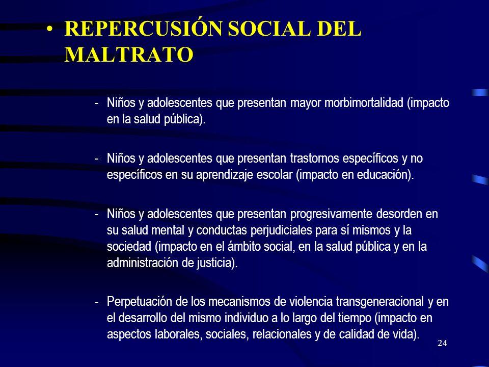 23 Legislación en beneficio de la protección de la familia y los menores en Chile -Ley de Maltrato a Menores 1994 -Ley de Violencia Intrafamiliar 1994