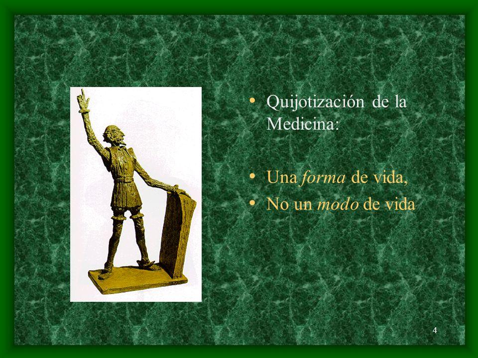4 Quijotización de la Medicina: Una forma de vida, No un modo de vida