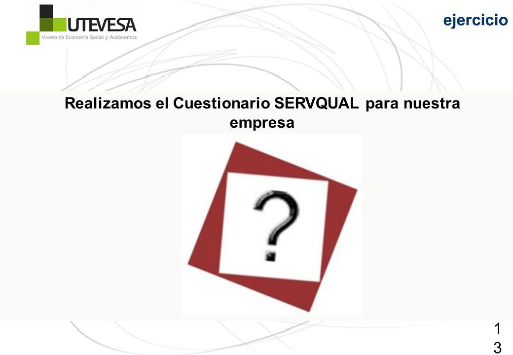 131131131 Realizamos el Cuestionario SERVQUAL para nuestra empresa ejercicio