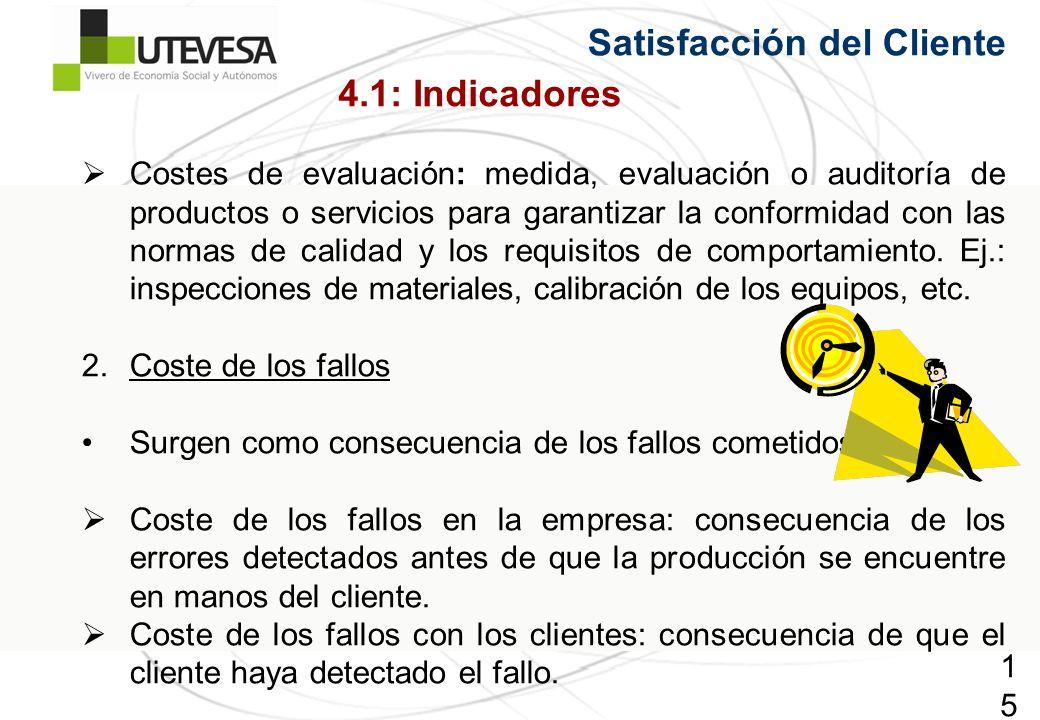 151151151 Satisfacción del Cliente Costes de evaluación: medida, evaluación o auditoría de productos o servicios para garantizar la conformidad con la