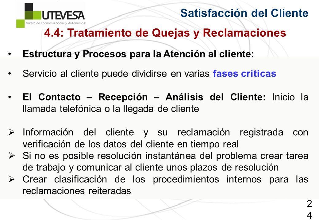 243243243 Estructura y Procesos para la Atención al cliente: Servicio al cliente puede dividirse en varias fases críticas El Contacto – Recepción – An