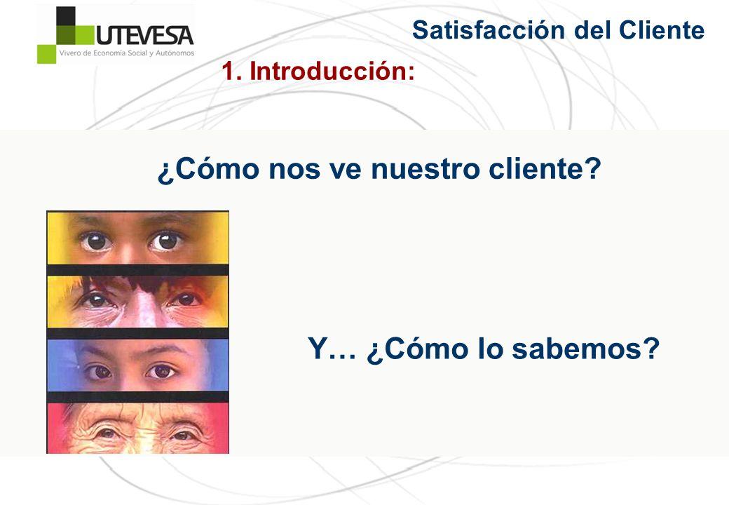 ¿Cómo nos ve nuestro cliente? Y… ¿Cómo lo sabemos? 1. Introducción: Satisfacción del Cliente