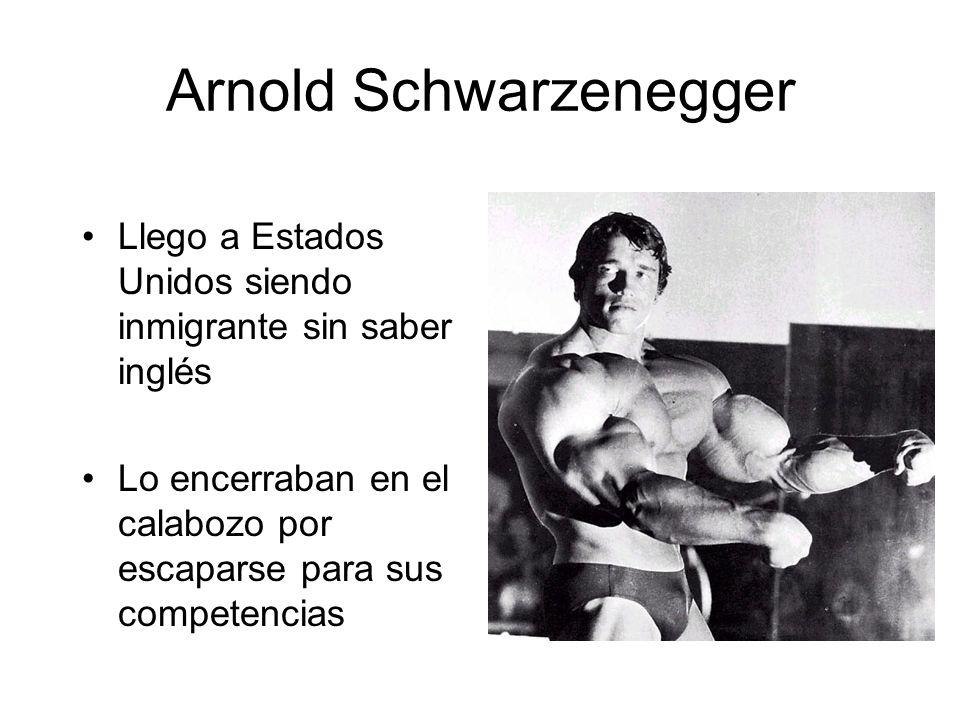 Arnold Schwarzenegger Llego a Estados Unidos siendo inmigrante sin saber inglés Lo encerraban en el calabozo por escaparse para sus competencias