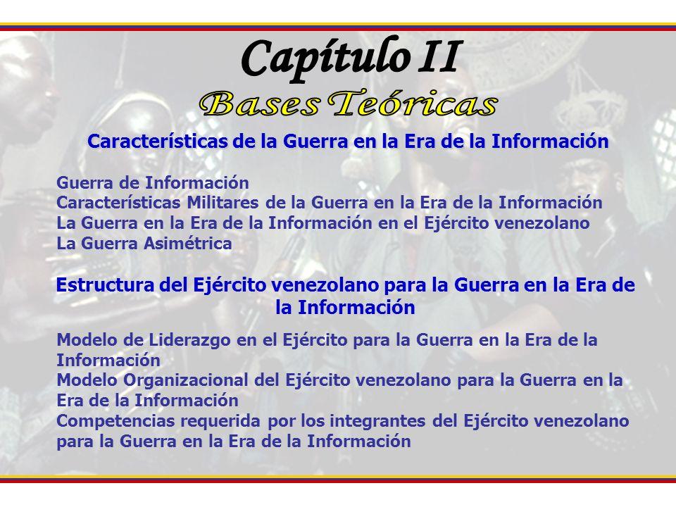 Características de la Guerra en la Era de la Información Guerra de Información Características Militares de la Guerra en la Era de la Información La G