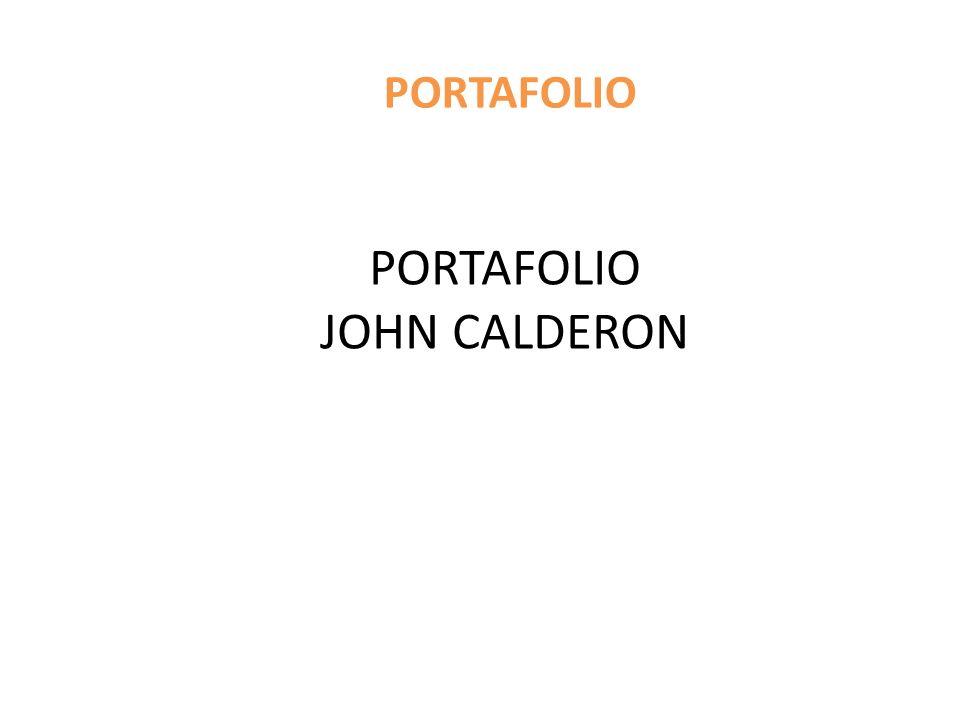 PORTAFOLIO JOHN CALDERON