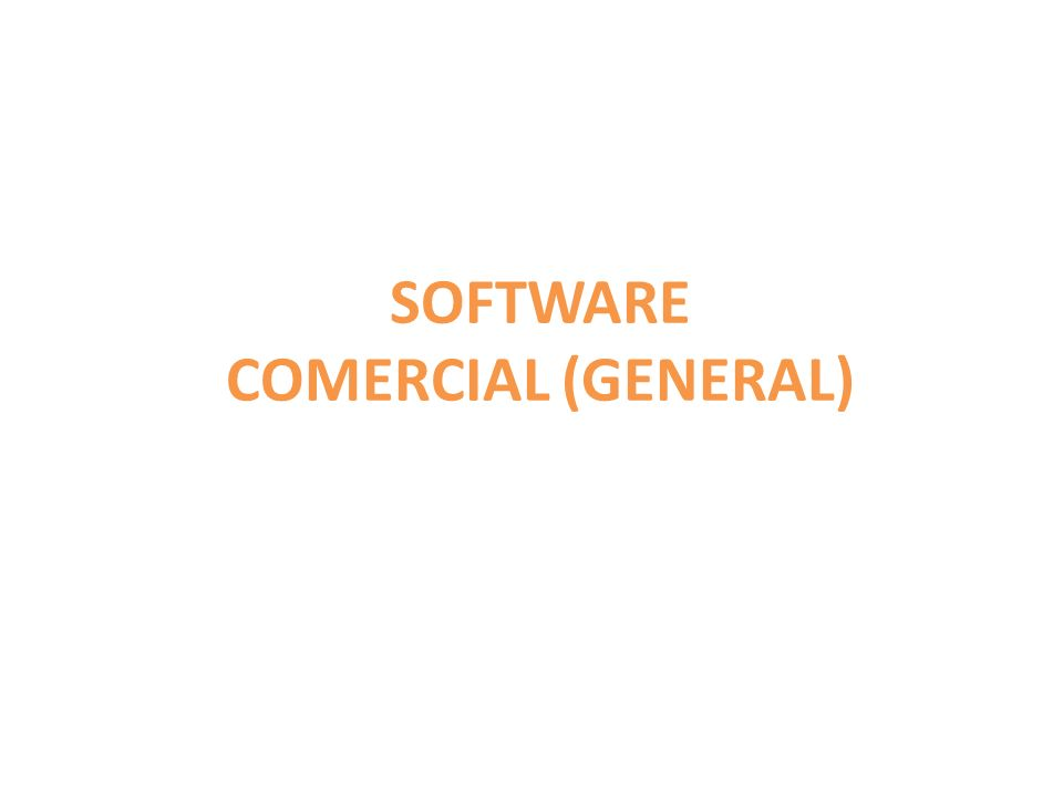 SOFTWARE COMERCIAL (GENERAL)