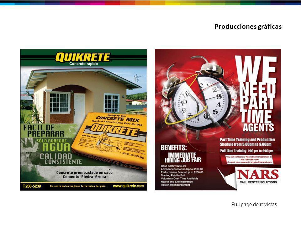 Producciones gráficas Full page de revistas