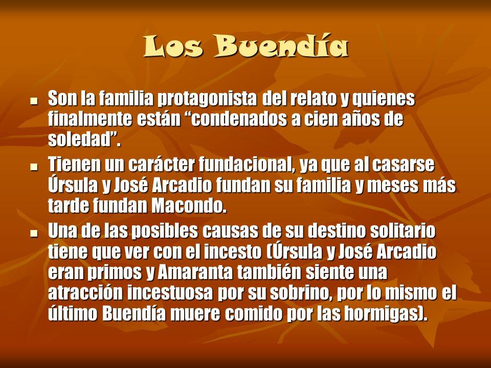Árbol genealógico de la familia Buendía