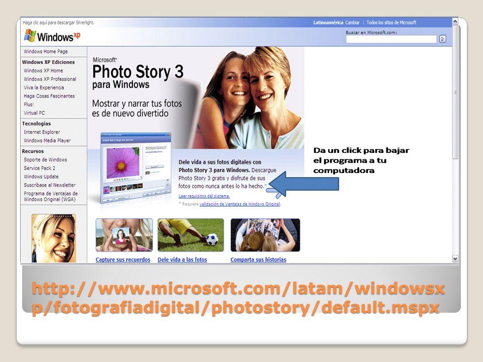 ¿Qué me permite hacer el programa.Cree presentaciones con sus fotos digitales.