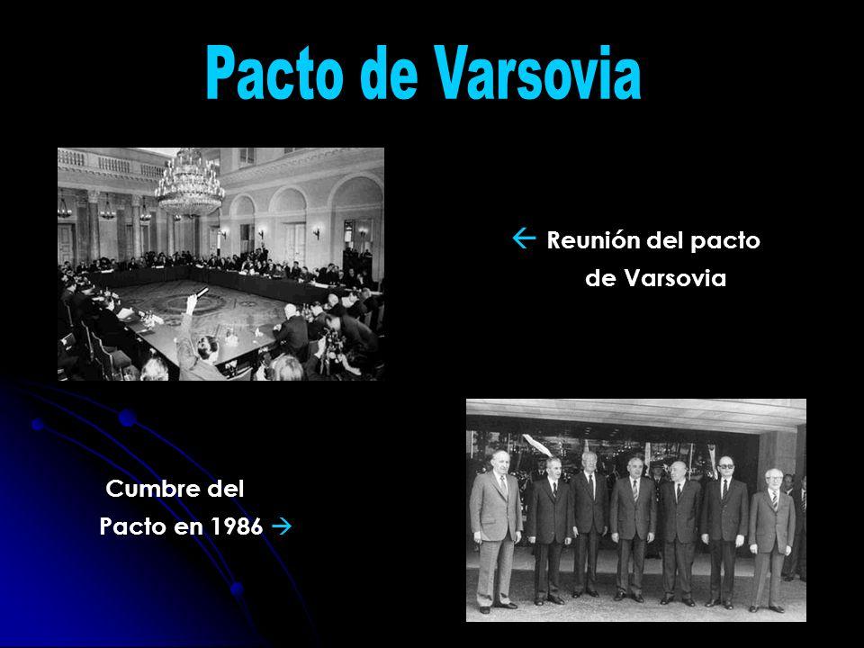 Reunión del pacto de Varsovia Cumbre del Pacto en 1986