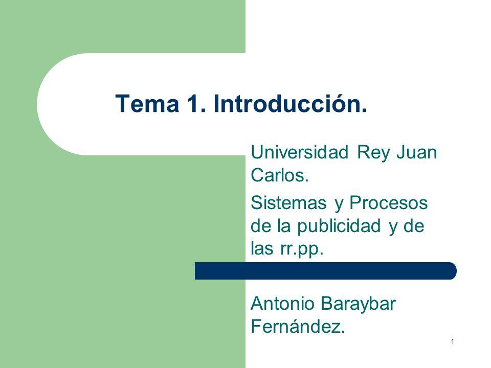 1 Tema 1.Introducción. Universidad Rey Juan Carlos.