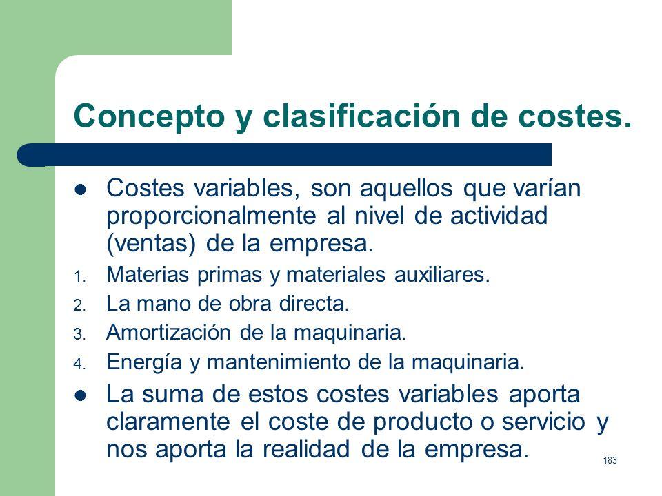 182 Concepto y clasificación de costes. Costes Indirectos, por contraposición, en el caso de tomar como referencia el producto serían: 1. La publicida