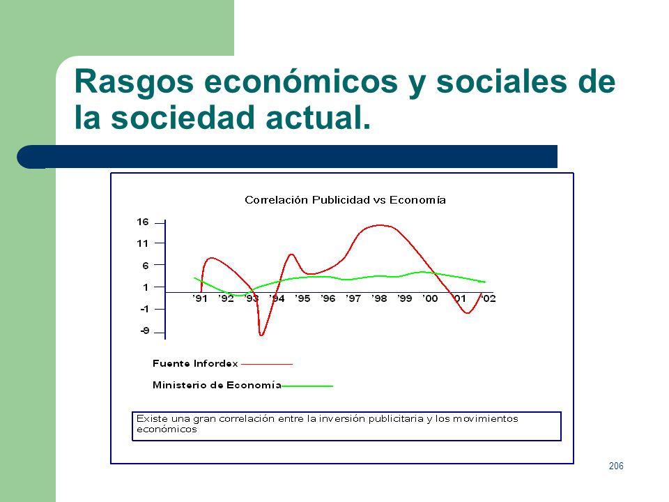 205 Rasgos económicos y sociales de la sociedad actual.