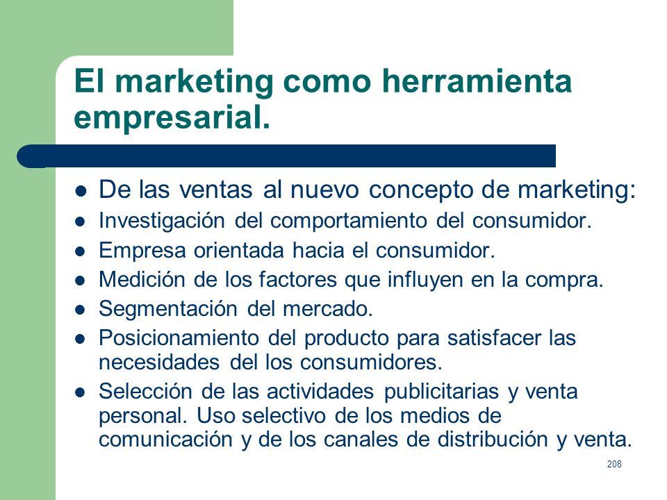 207 El marketing como herramienta empresarial. El objetivo del marketing consiste en conocer y comprender tan bien al consumidor que el producto o ser