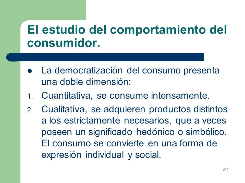 208 El marketing como herramienta empresarial. De las ventas al nuevo concepto de marketing: Investigación del comportamiento del consumidor. Empresa