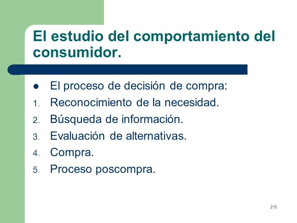 209 El estudio del comportamiento del consumidor. La democratización del consumo presenta una doble dimensión: 1. Cuantitativa, se consume intensament