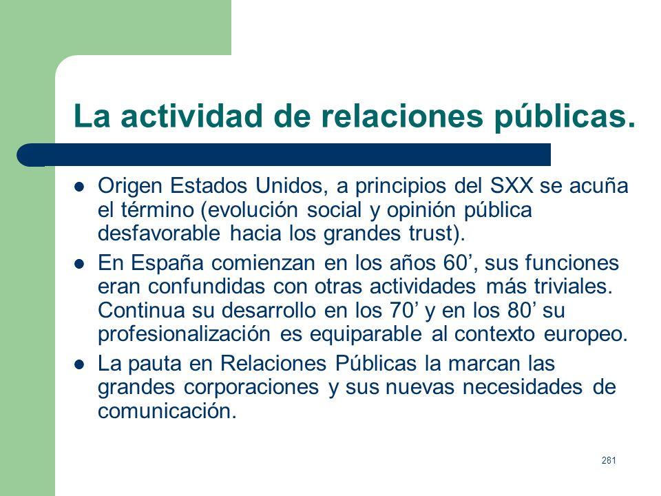 280 La actividad publicitaria en los medios convencionales. Líderes de inversión publicitaria,datos 2005. 1. Telefónica 159,9 millones euros (151,2) (