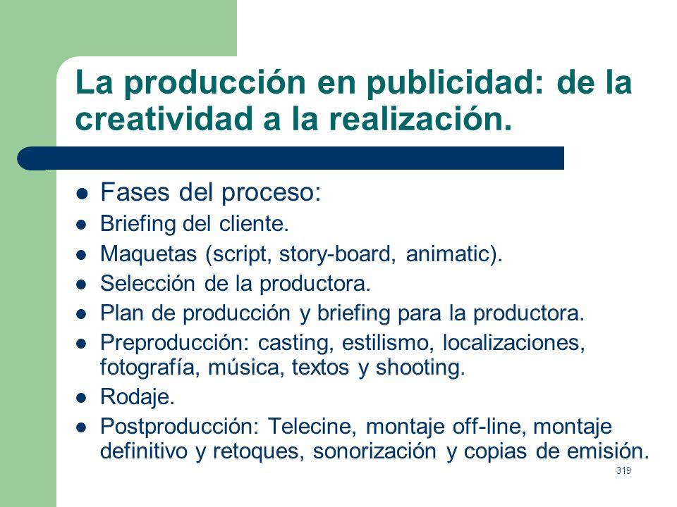 318 La producción en publicidad: de la creatividad a la realización. Una buena idea mal realizada puede convertirse en una mala idea. Una idea mediocr