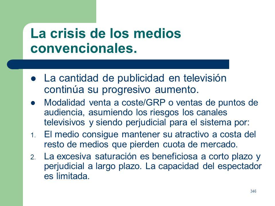 345 La crisis de los medios convencionales.