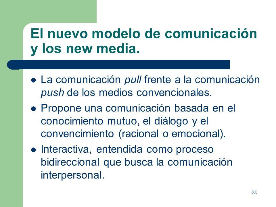 359 Clasificación de los medios no convencionales. Internet es considerado por Infoadex como medio convencional desde el año 2000, atendiendo priorita