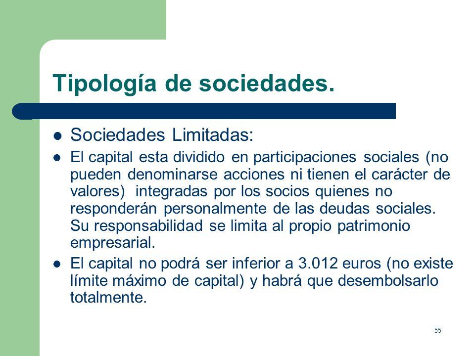 54 Tipología de sociedades. Sociedades Comanditarias. Son de carácter mixto, tanto respecto a la limitación de responsabilidad como a su condición de