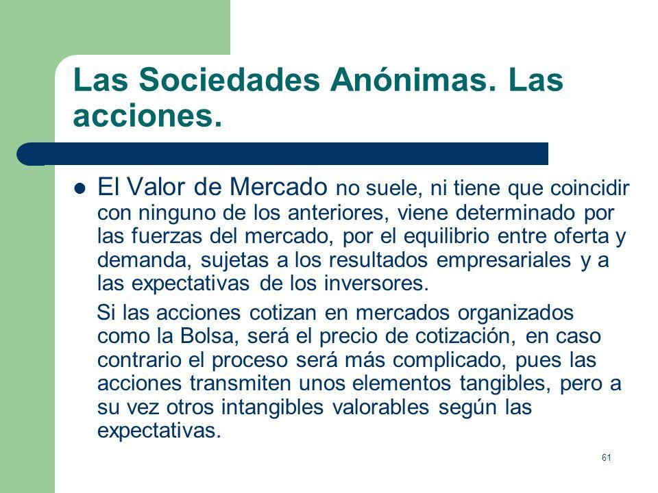 60 Las Sociedades Anónimas. Las acciones. Valor teórico de la acción. Caso práctico: Después de un incremento patrimonial de 5.000 euros. Patrimonio V