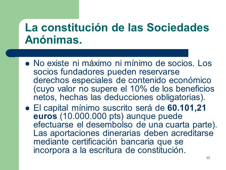 64 Derechos del accionista. Tiene el derecho político de asistir y votar en las Juntas Generales y el de impugnar los acuerdos sociales (en algunos es