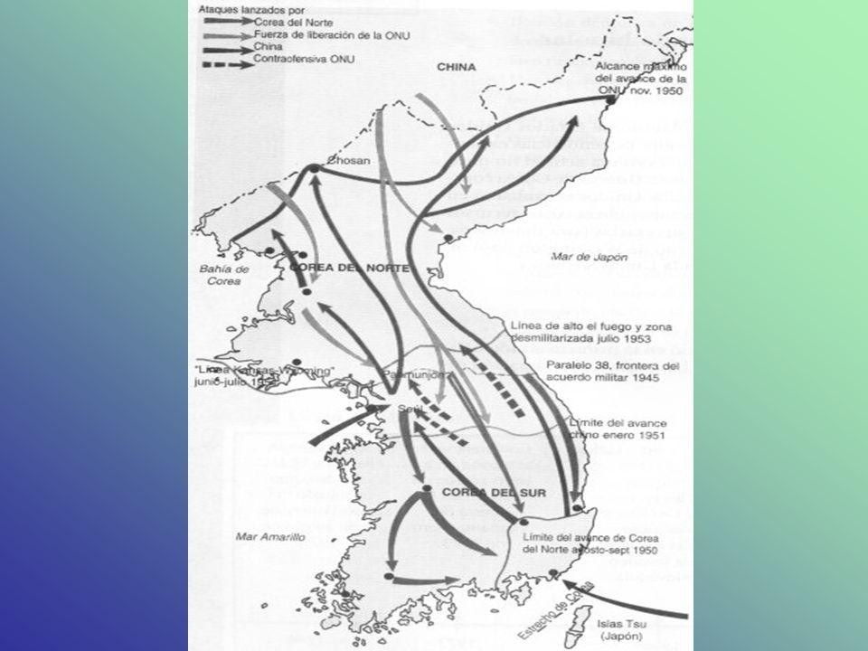 Ofensiva norcoreana Stalin apoyó entonces a Kim ll Sung en sus planes de invasión al sur.