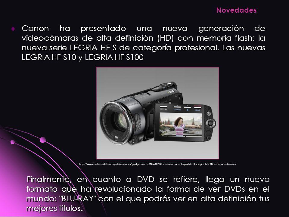 Canon ha presentado una nueva generación de videocámaras de alta definición (HD) con memoria flash: la nueva serie LEGRIA HF S de categoría profesiona