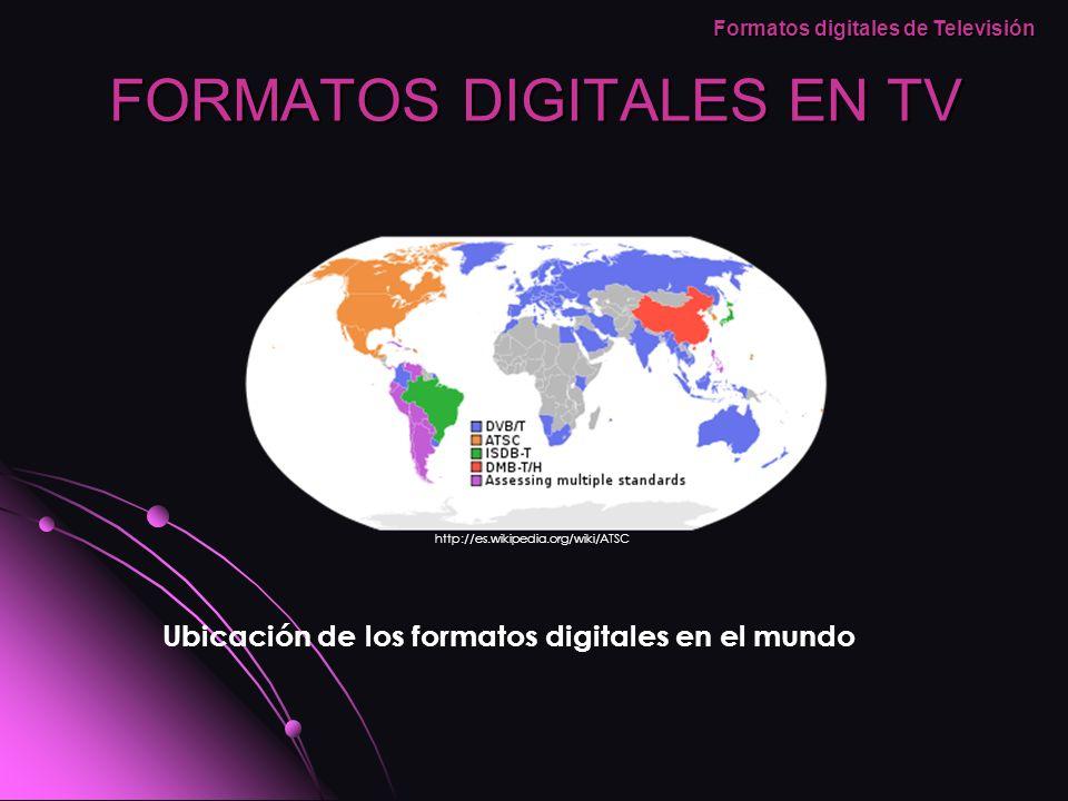 ATSC (Advanced Televisión Systems Committee) creado en los Estados Unidos de America por un comité encargado de desarrollar estándares para la televisión digital para los Estados Unidos en 1982, incluyendo formatos digitales como lo son HDTV (High Definition Television) y SDTV (Standard Definition Television), ya son varios los países que están adoptando estos estándares de TV como lo son Canadá, Corea del Sur, Honduras, México y Argentina.ATSC Formatos digitales de Televisión http://www.avtoolbox.com/images/products/atsc-100-rear.jpg