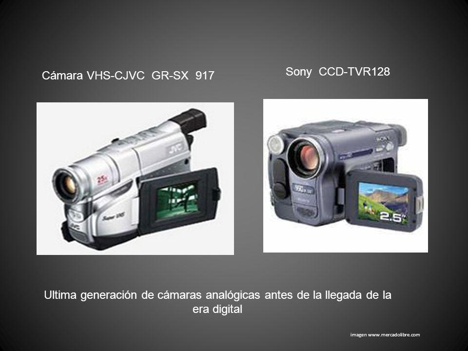 imagen www.mercadolibre.com Cámara VHS-CJVC GR-SX 917 Sony CCD-TVR128 Ultima generación de cámaras analógicas antes de la llegada de la era digital