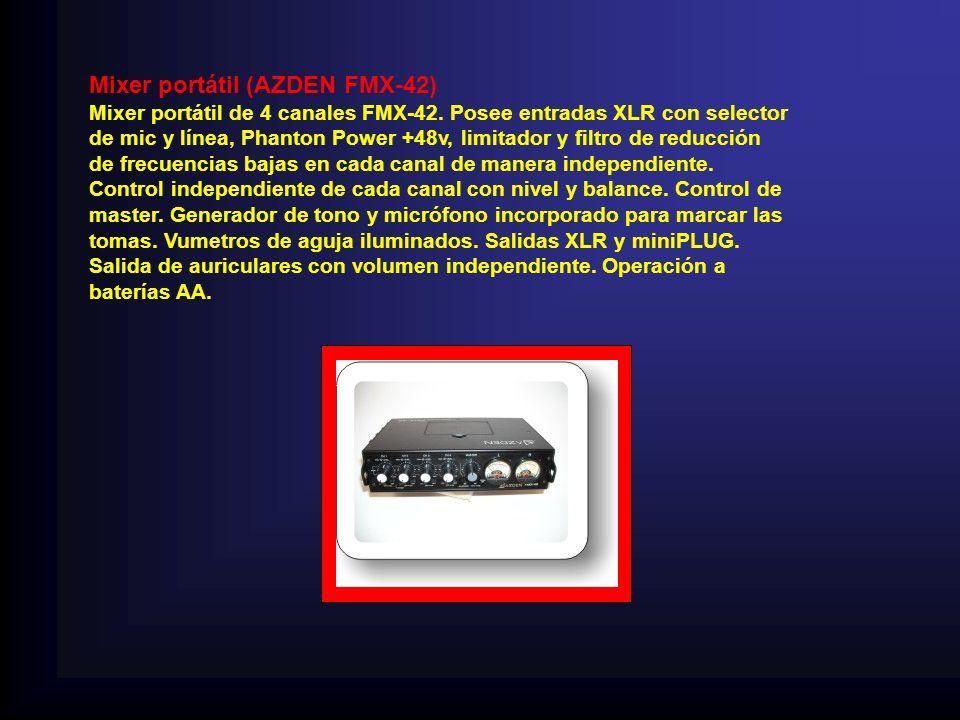 Mixer portátil (AZDEN FMX-42) Mixer portátil de 4 canales FMX-42.