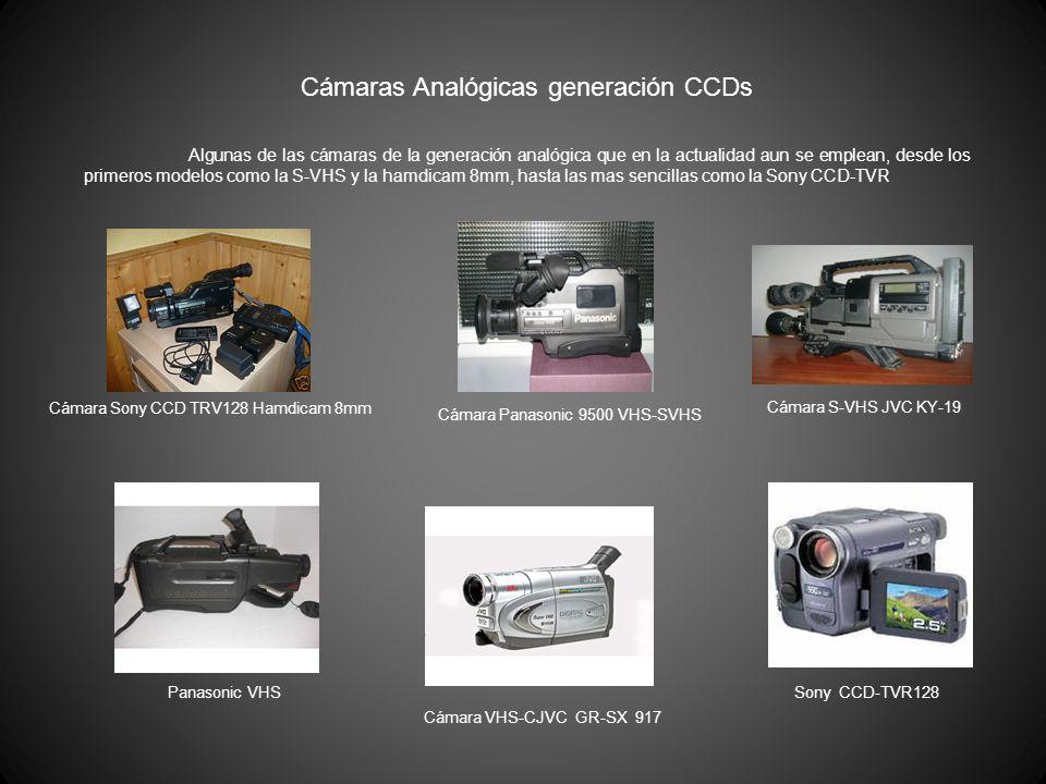Cámaras Analógicas generación CCDs Cámara Sony CCD TRV128 Hamdicam 8mm Cámara Panasonic 9500 VHS-SVHS Cámara S-VHS JVC KY-19 Panasonic VHS Cámara VHS-
