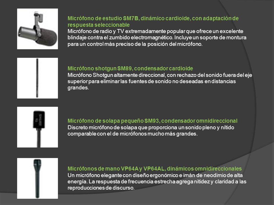 Micrófono de estudio SM7B, dinámico cardioide, con adaptación de respuesta seleccionable Micrófono de radio y TV extremadamente popular que ofrece un excelente blindaje contra el zumbido electromagnético.