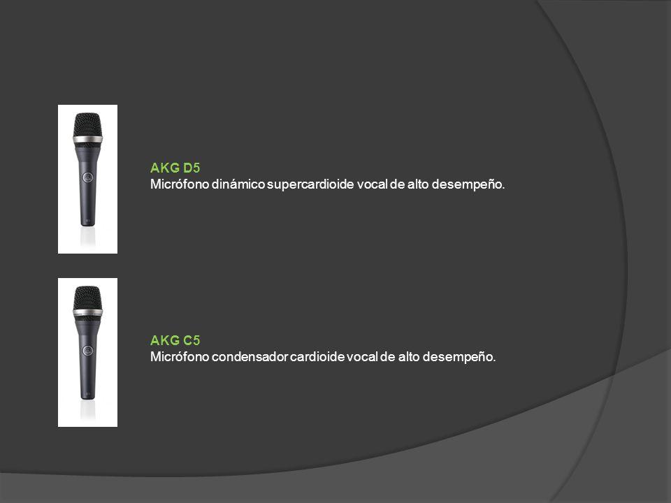 AKG C5 Micrófono condensador cardioide vocal de alto desempeño.