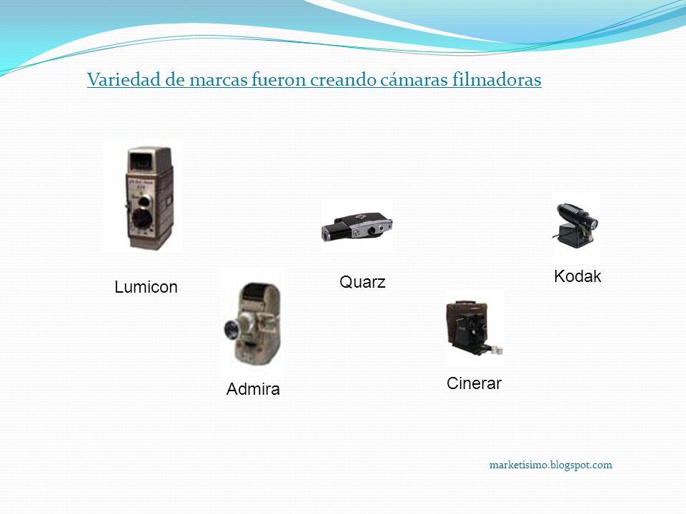 marketisimo.blogspot.com Lumicon Admira Quarz Cinerar Kodak Variedad de marcas fueron creando cámaras filmadoras