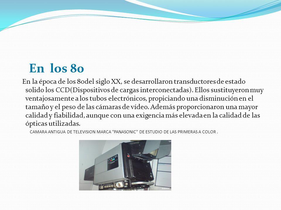En los 80 En la época de los 80del siglo XX, se desarrollaron transductores de estado solido los CCD(Dispositivos de cargas interconectadas). Ellos su
