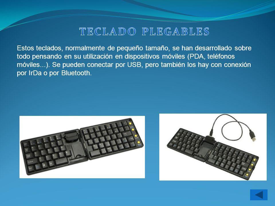 Estos teclados, normalmente de pequeño tamaño, se han desarrollado sobre todo pensando en su utilización en dispositivos móviles (PDA, teléfonos móvil
